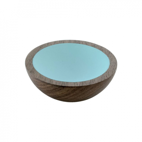 Cabinet Knob Wok - Wulnut/Turquoise in the group Products / Cabinet Knobs / Tree at BeslagOnline (25504-11)