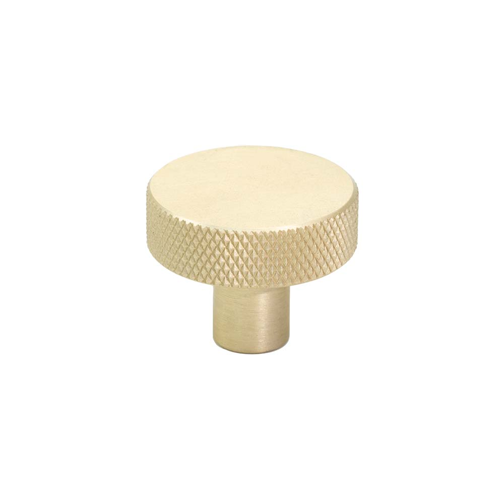Cabinet Knob Flat - 32mm - Brushed Brass in the group Products / Cabinet Knobs / Brass at BeslagOnline (309162-11)