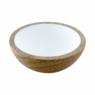 Cabinet Knob Wok - 64mm - Oak/White