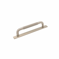 Handle Helix/Back Plate - 128mm - Stainless Steel Finish