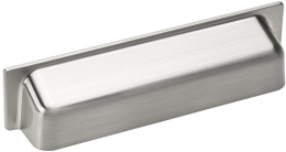 Bin Pull Shell - 96mm - Stainless Steel Finish