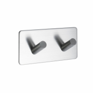Base 200 2-Hook - Brushed Stainless Steel