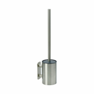 Solid Toilet Brush - Brushed Stainless Steel